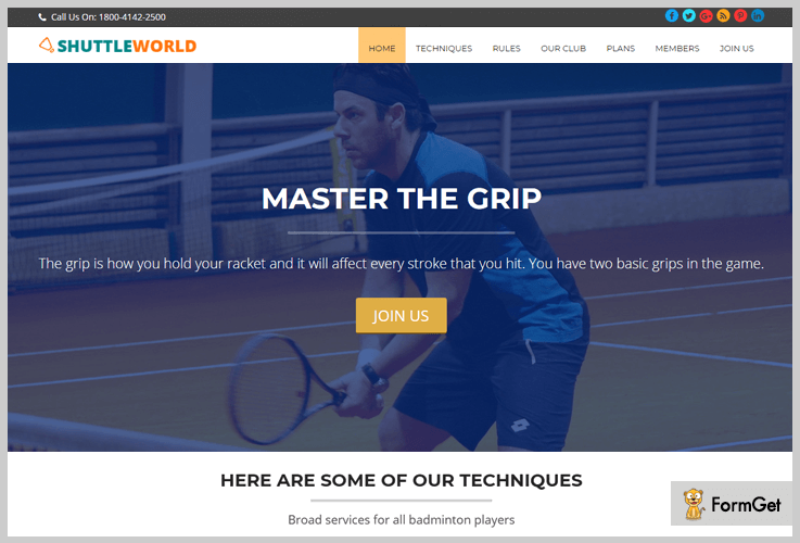 Badminton WordPress Theme