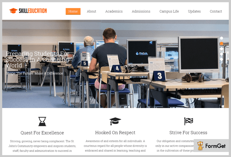 Skill Education University WordPress Theme