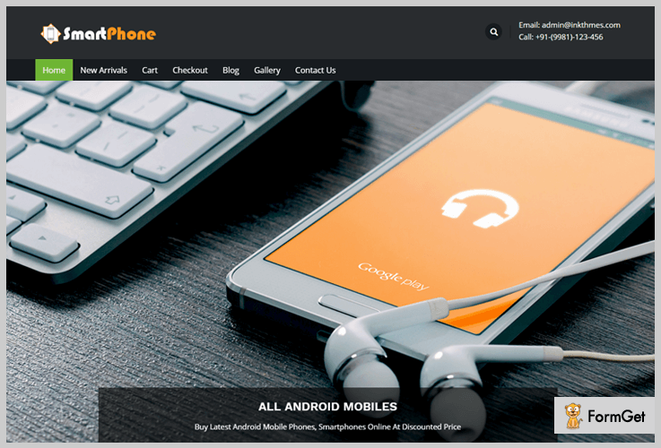 SmartPhone Mobile WordPress Theme