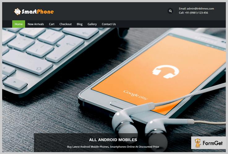 Smart Phone Digital Product Selling WordPress Theme