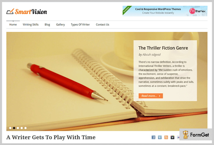 Smart Vision Author WordPress Theme