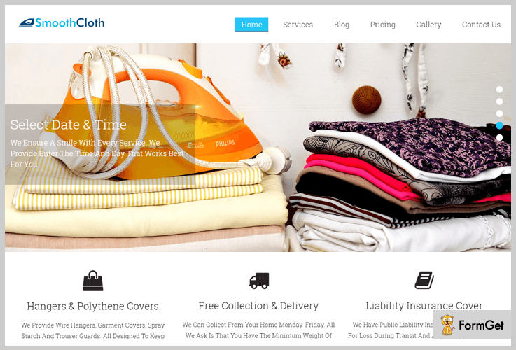 smoothcloth laundry wordpress theme