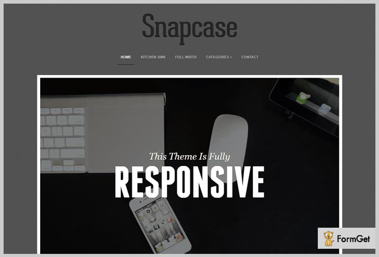 Snapcase WordPress Photoblog Theme