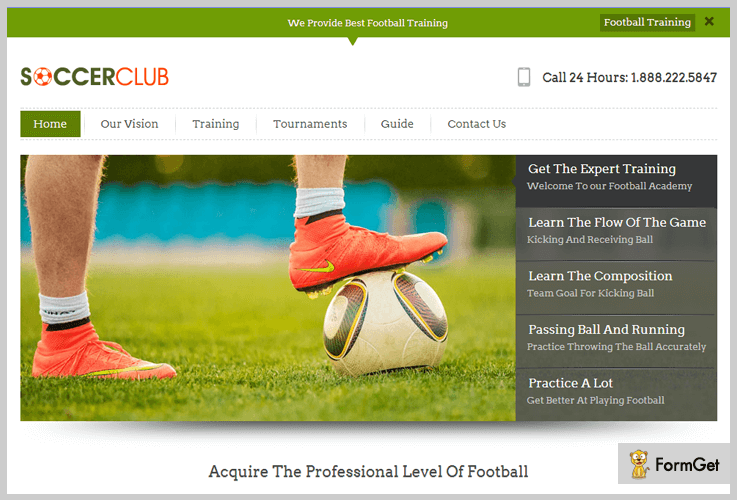 Soccerclub Sports WordPress Theme