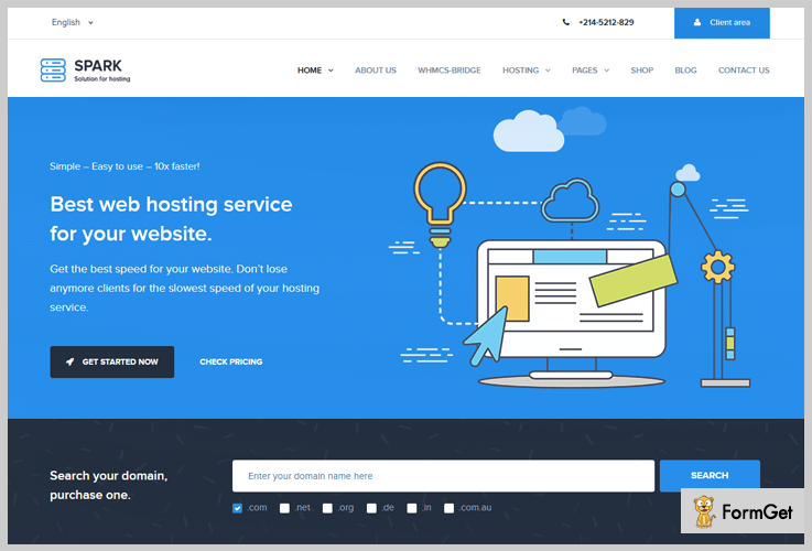 Spark Hosting WordPress Themes
