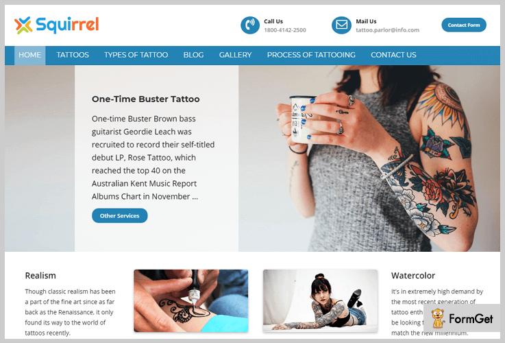 Squirrel Flat Design WordPress Theme
