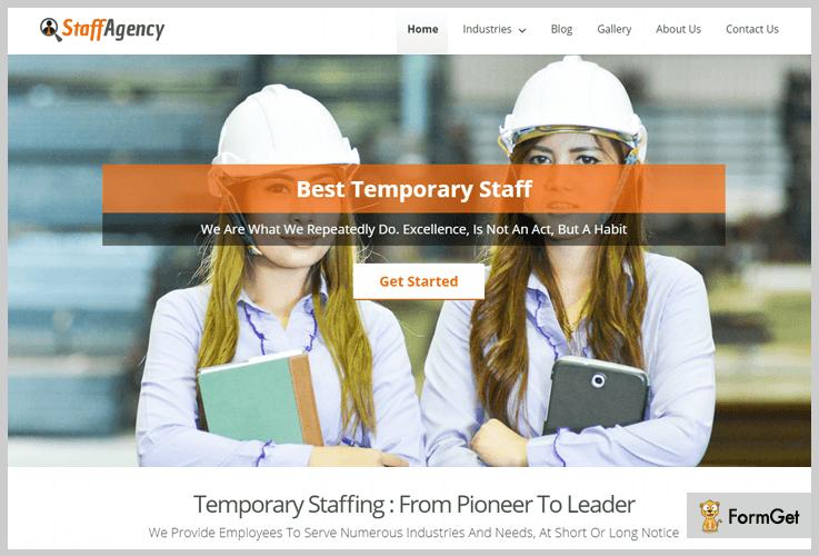 StaffAgency Human Resource WordPress Themes