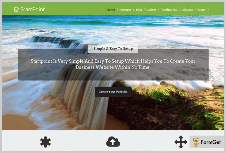StartPoint Parallax WordPress Theme