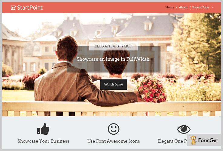 Start Point Image WordPress Theme