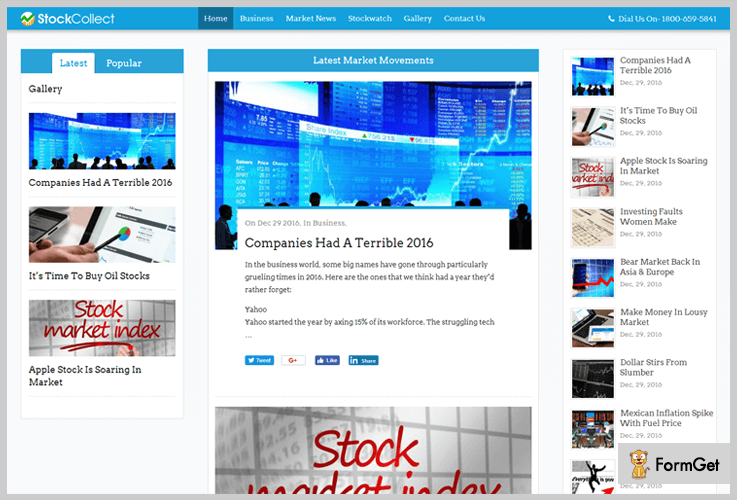 StockCollect WordPress Themes Stock Market