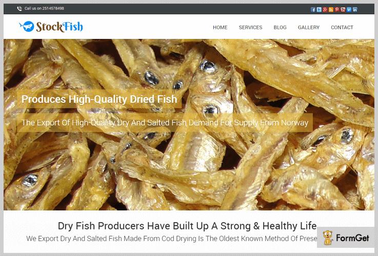 Stock Fish Fishing WordPress Theme