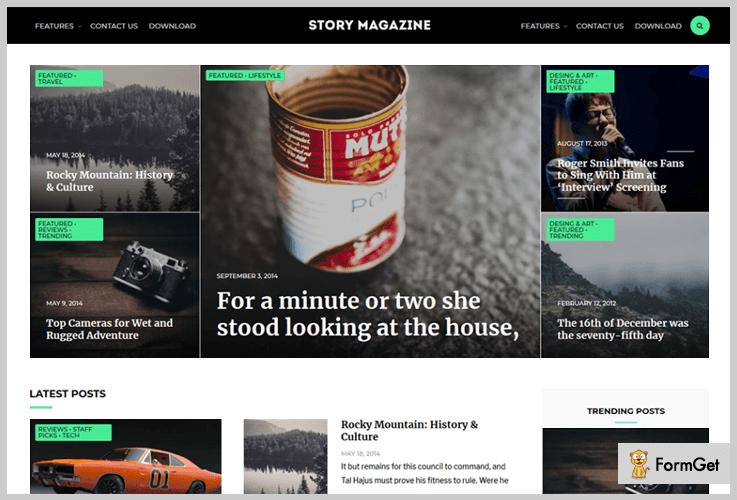Story Magazine Three Column WordPress Theme