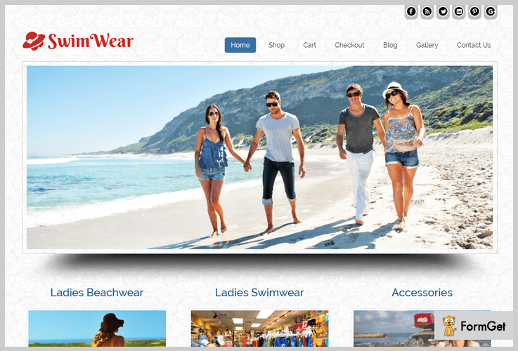 Swim Wear WordPress Theme For Clothing Store