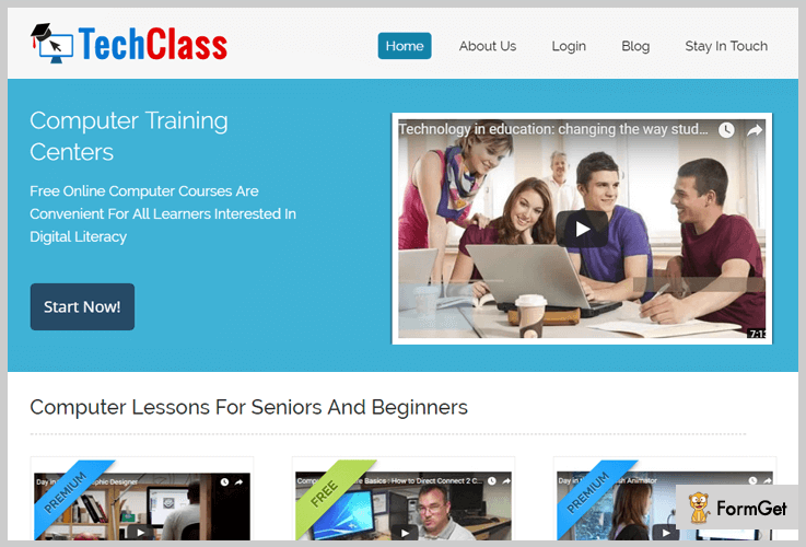 TechClass E-learning WordPress Themes