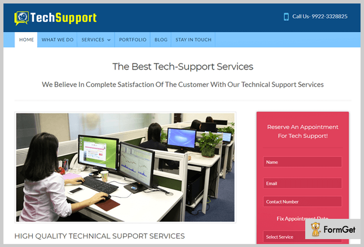 TechSupport Tech WordPress Theme