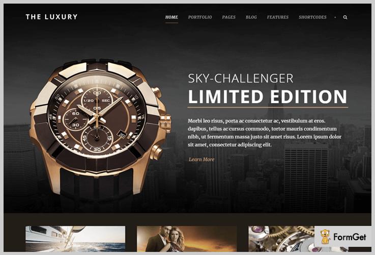 The Luxury Dark WordPress Themes