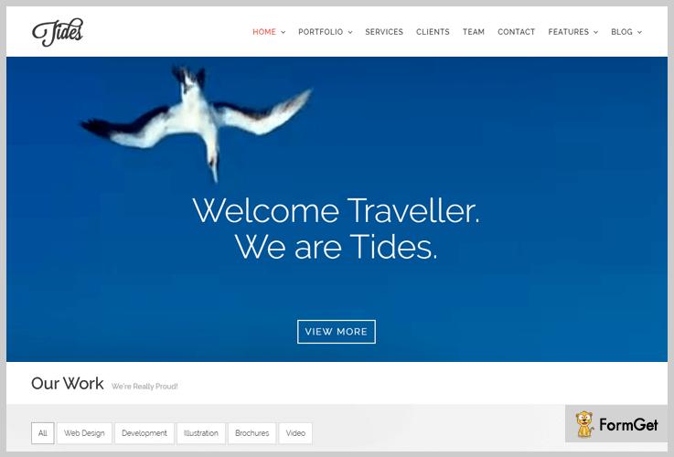 Tides Video Header WordPress Themes