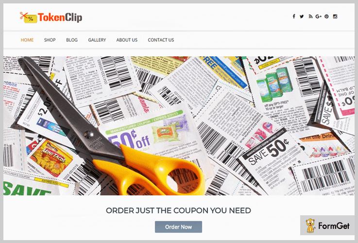 Token Clip Coupon WordPress Theme