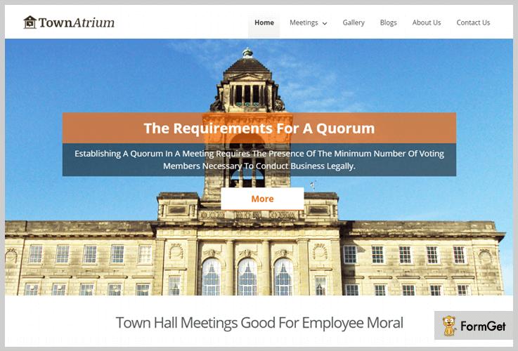 TownAtrium Conference WordPress Theme