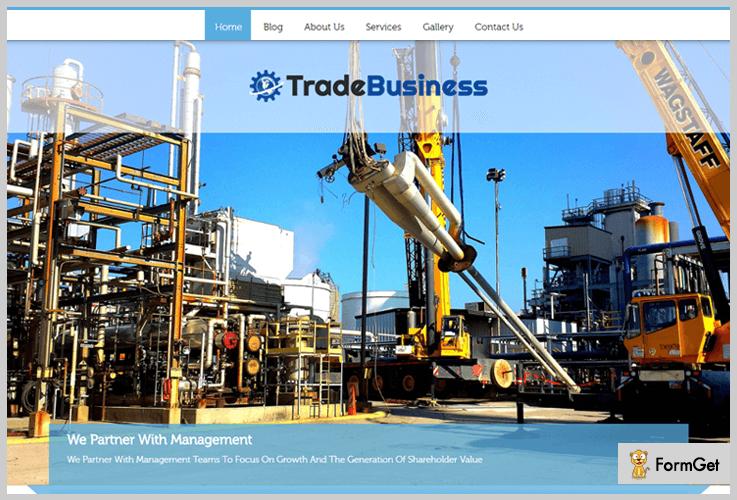 Trade Business WordPress Theme