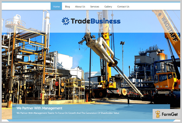 Trade Business Industrial WordPress Theme