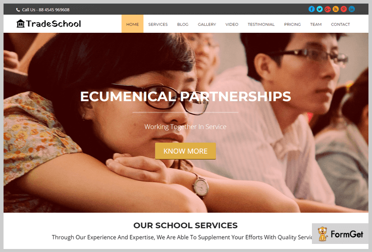 TradeSchool Skill Education WordPress Themes