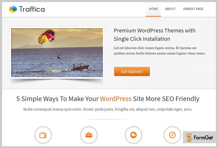 Traffica Fitness WordPress Theme