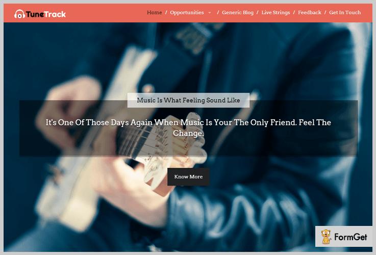 TuneTrack Band WordPress Theme