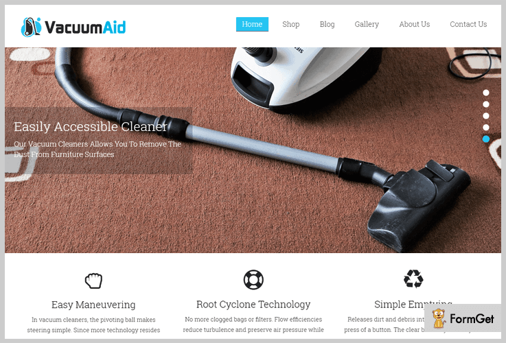 Vacuum Aid House Cleaning WordPress Theme