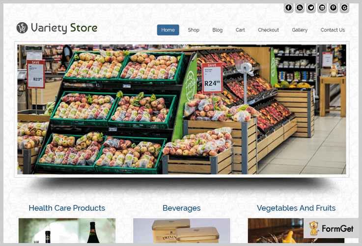 Variety Store Grocery Store WordPress Theme