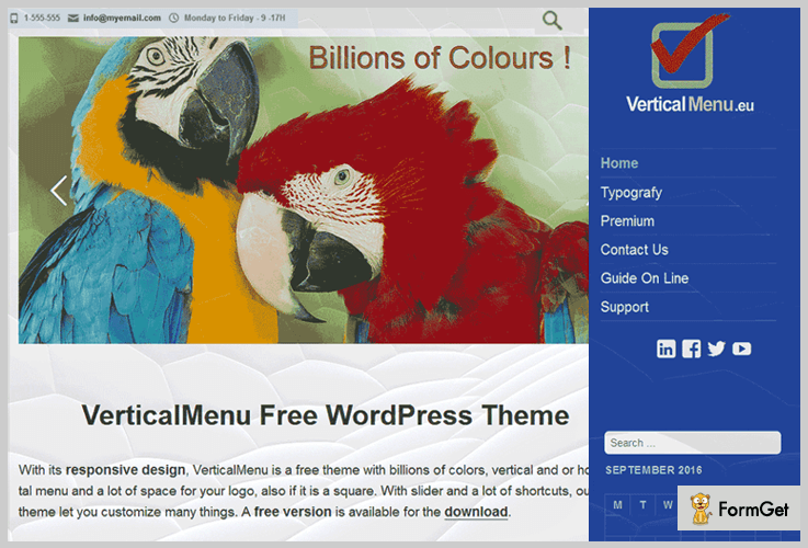 VerticalMenu WordPress Themes With Side Menu