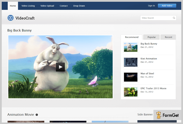 VideoCraft Creative WordPress Themes