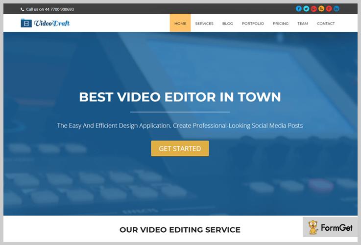 VideoDraft Videographer WordPress Theme
