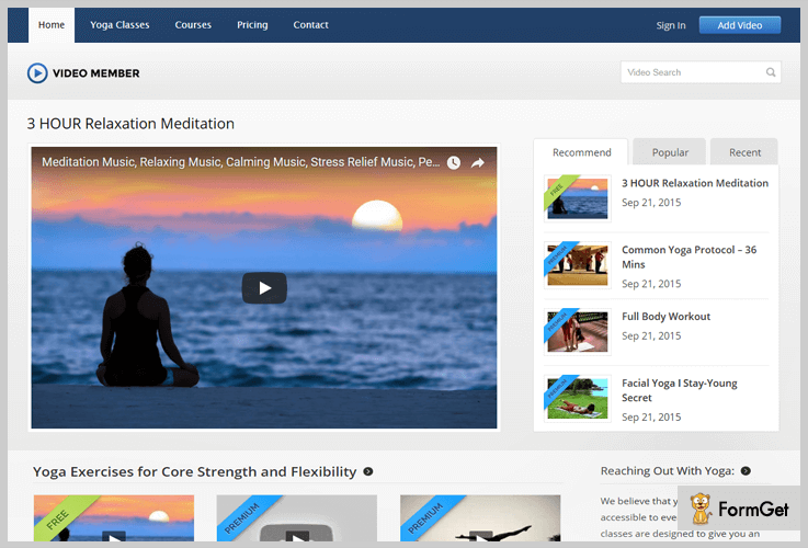 VideoMember Video Upload WordPress Theme