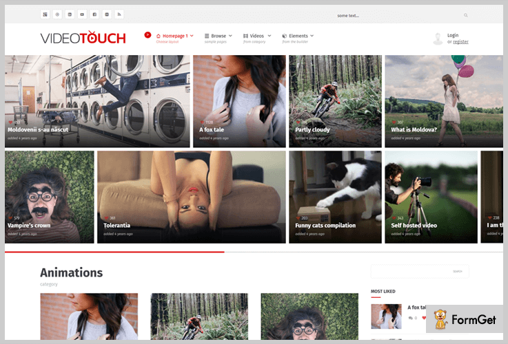 VideoTouch Video Header WordPress Themes