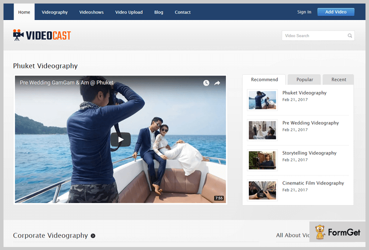 VideoCast WordPress Theme