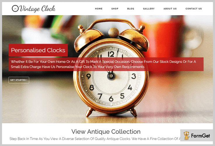 VintageClock Vintage WordPress Theme