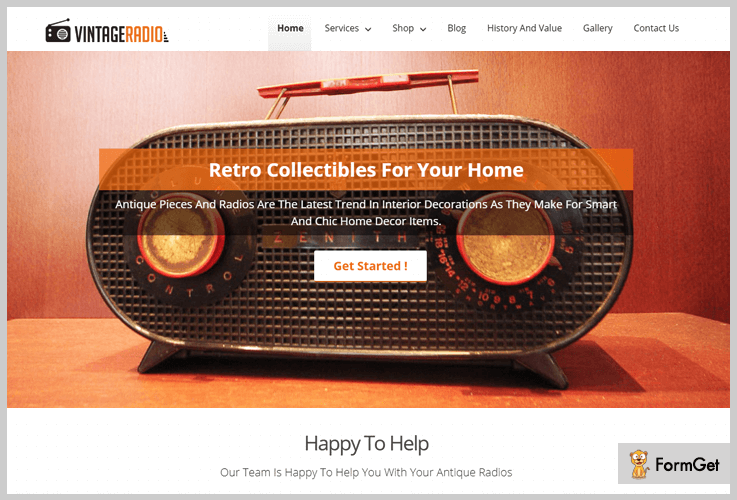 VintageRadio Vintage WordPress Theme