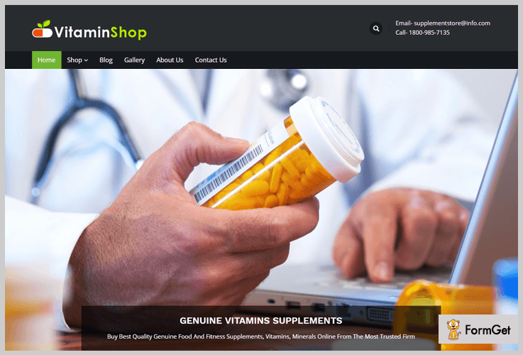 Nutrition Store WordPress Themes