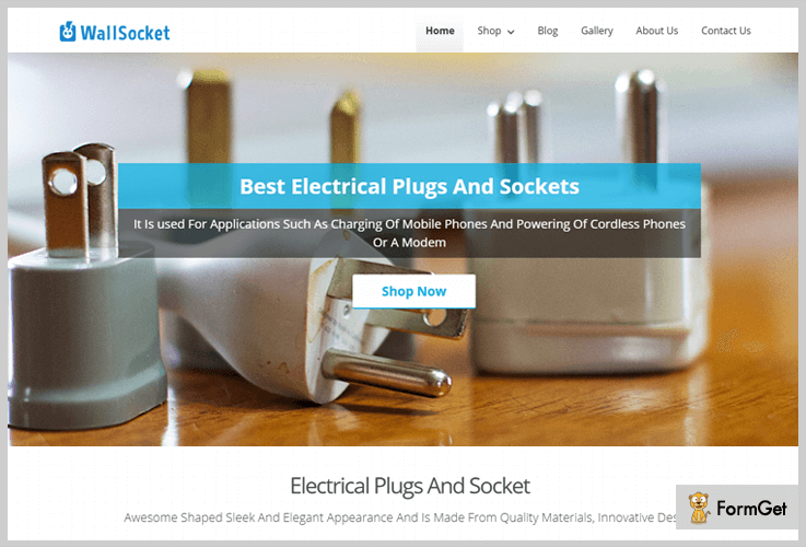 wall-socket WordPress Themes For Electricians
