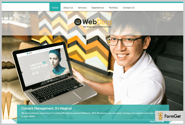 Web Ding IT Company WordPress Themes