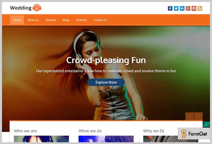 Wedding DJ Wedding Planner WordPress Theme