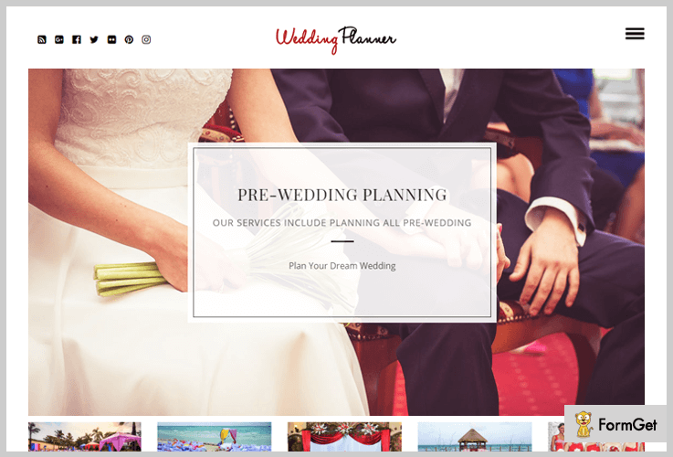 Wedding Planner Wedding Planner WordPress Theme