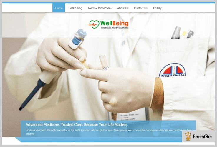 WellBeing Doctor WordPress Theme