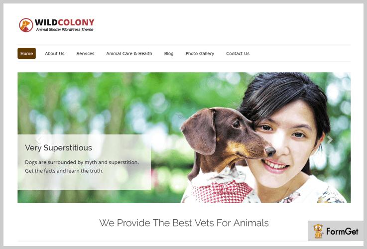 wild-colony animalcare wordpress theme