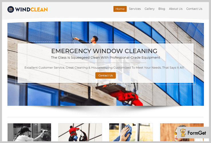Wind Clean House Cleaning WordPress Theme