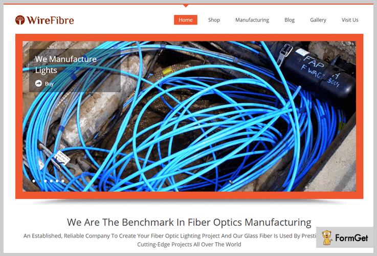 WireFibre Fiber Optics Manufacturing WordPress Theme