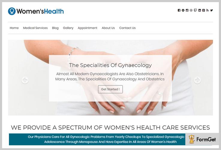 Women's Health Doctor WordPress Theme