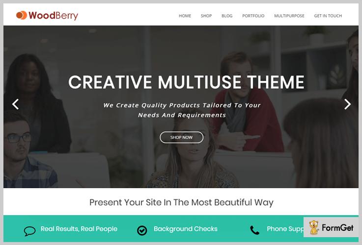 WooBerry Parallax WordPress Theme
