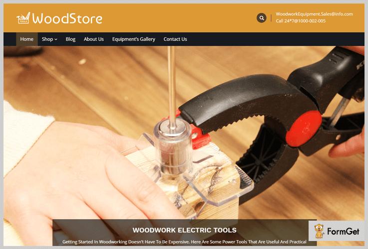 WoodStore Machinery WordPress Theme